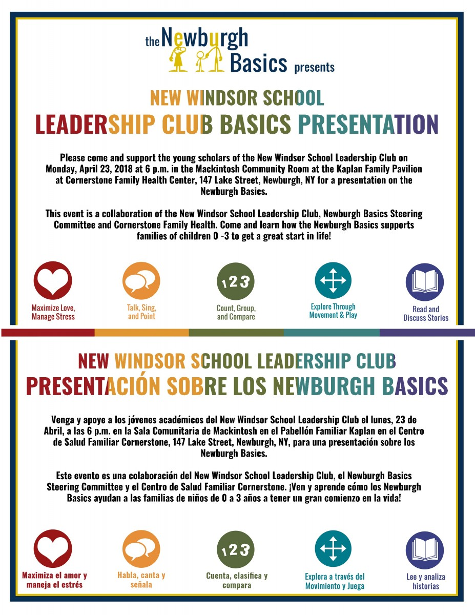 Thumbnail for New Windsor School Leadership Club to Present Newburgh Basics