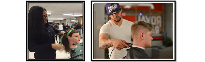 Cosmetology and Barbering Students