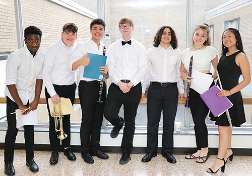 Students with Instruments 2