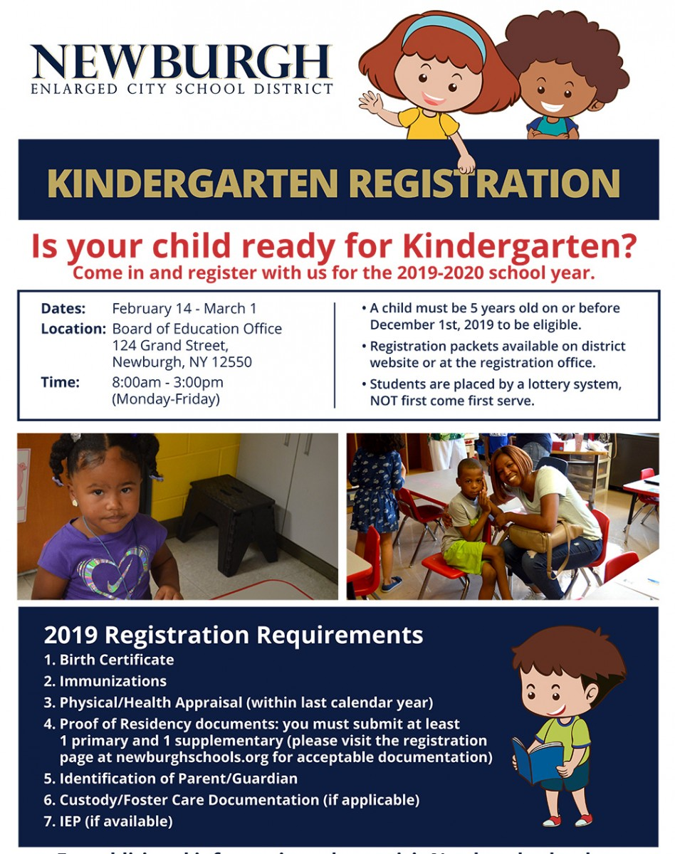 Kindergarten Registration (Text on image available below)