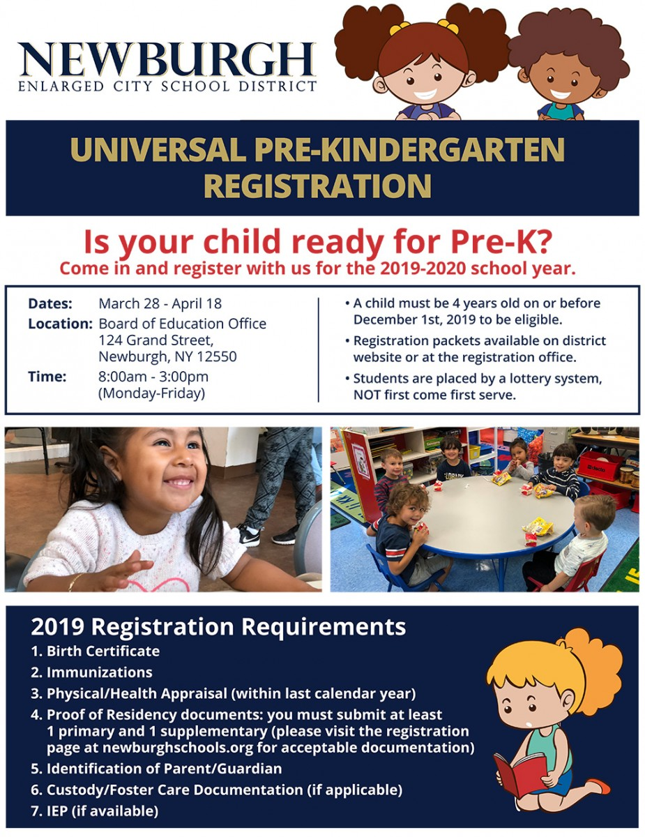 Pre-K Registration (text on flyer below)