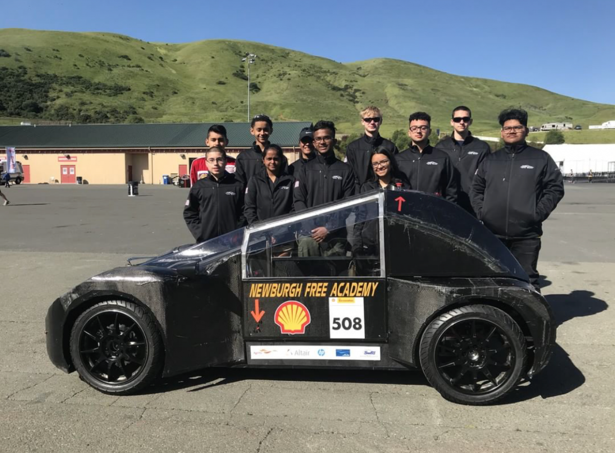 Thumbnail for Newburgh Free Academy Concept Vehicle Racing Team (CVRT) Place 7th in International Competition