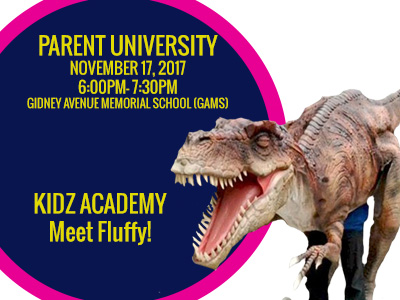 Thumbnail for Parent University is November 15, 2017 - Register now!