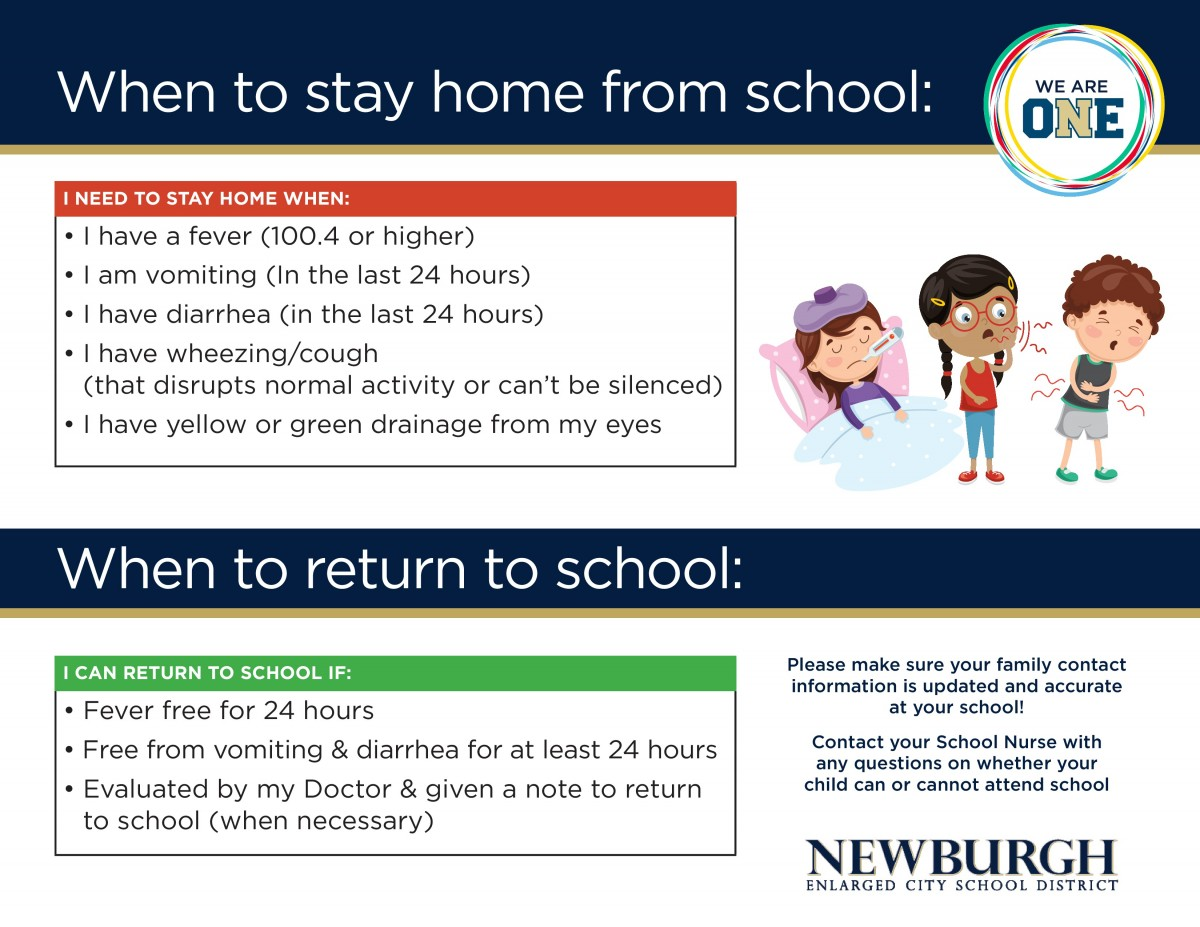 When Should My Child Stay Home, Click to Download for Content