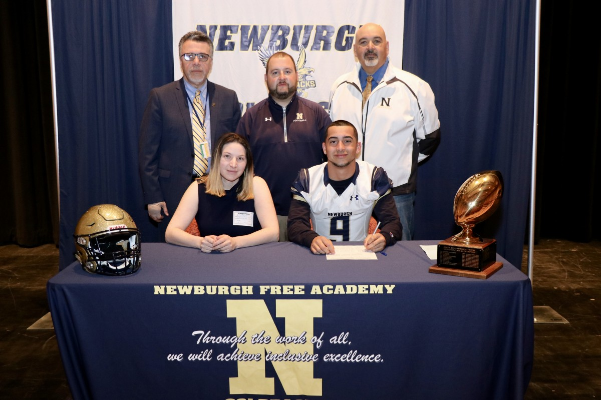 Tyler Santiago, #9, defensive back and wide receiver, will be attending Western Connecticut State University and plans to study biology.