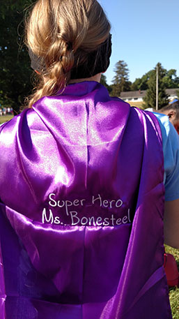 A cape from Girls on the Run