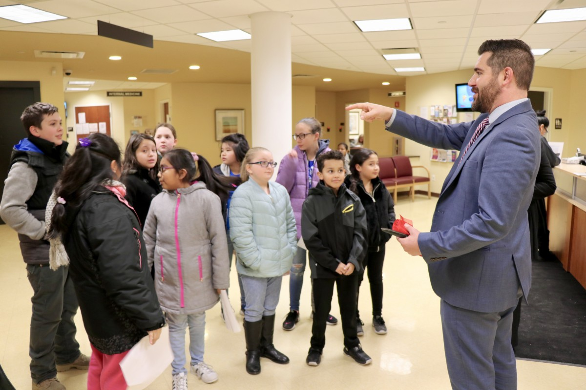 Students get a tour of Cornerstone Family Health