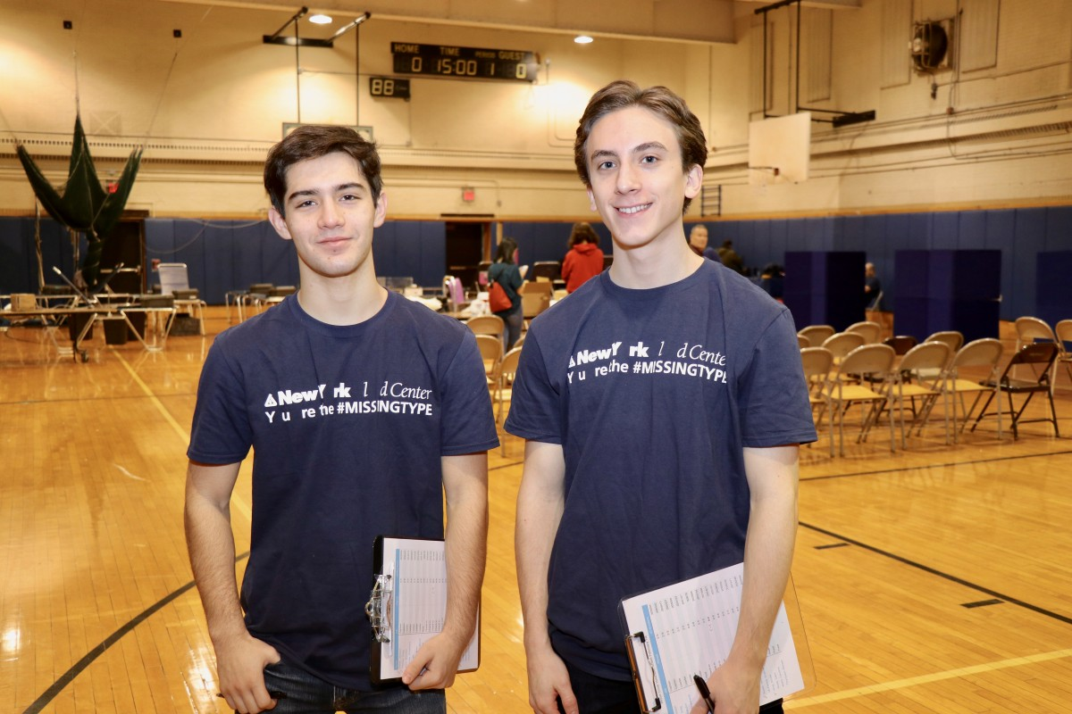 Blood Drive Team Captains, Greg Fischer, 12th grade and Jackson Galati, 12th grade