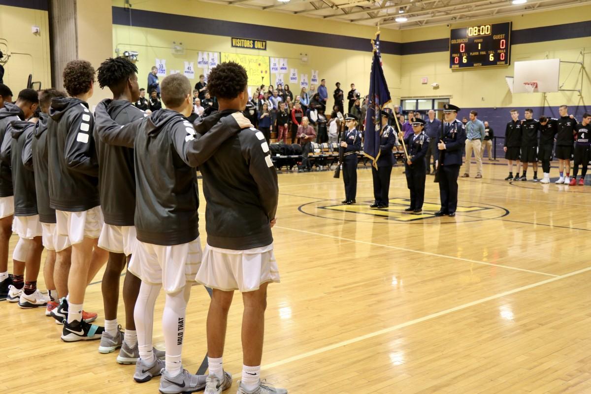 Thumbnail for Veterans Honored at NFA Varsity Basketball Game