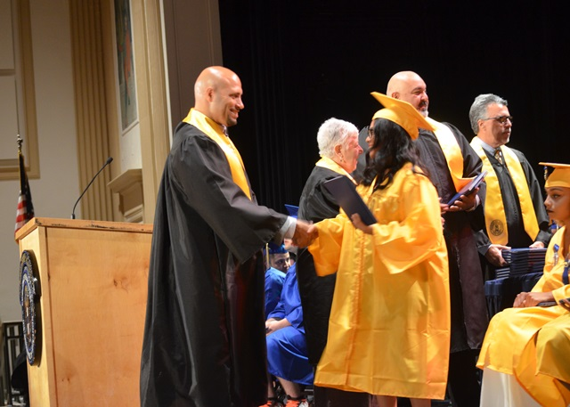 Students receiving Diploma
