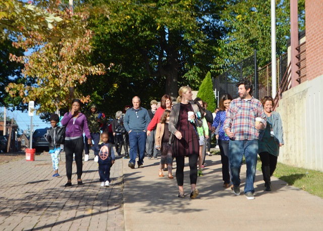 Students and families marching 4