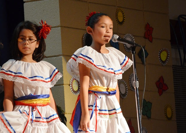 Students performing at the Hispanic Heritage Month Event 2