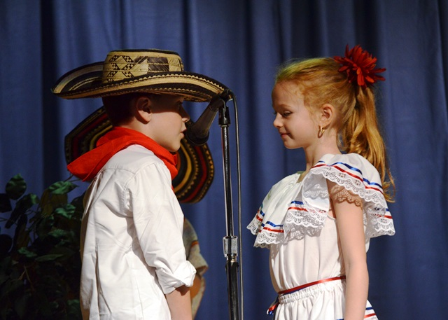 Two students acting at the event.