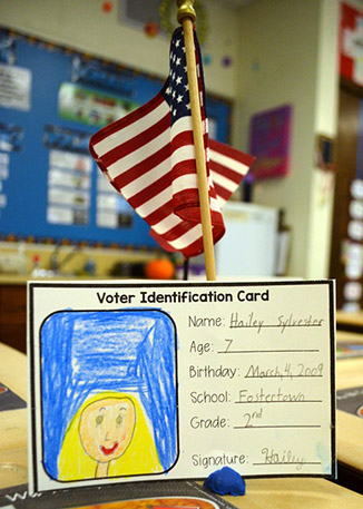A picture of a voter identification card