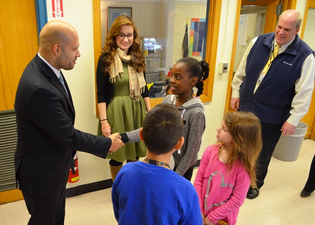 Student welcome the superintendent