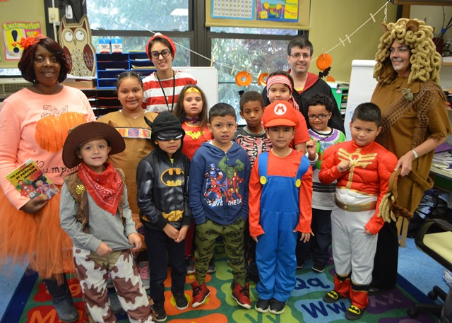 Students dressed as their favorite characters