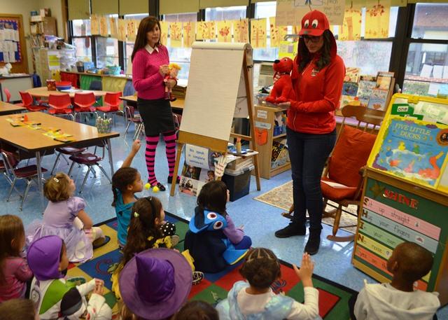 Teachers teaching as their favorite characters