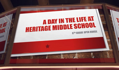 Thumbnail for A Day in the Life of Heritage Middle School Student Video