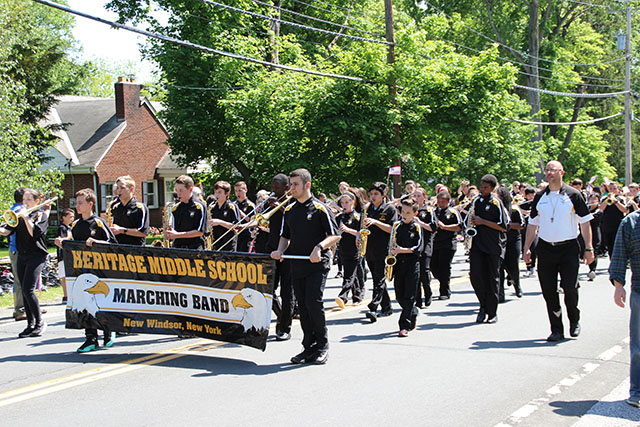 HMS Band during the New Windsor Memorial Day Parage