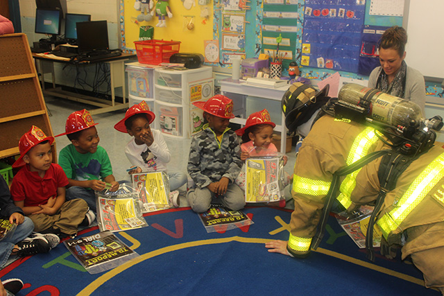 Firefighters in the classroom