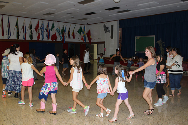 Line Dancing Students