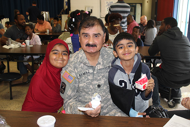 Another family which attended the event