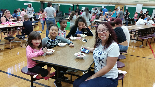 Families at the ice cream social 1