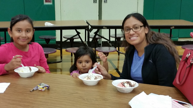 Families at the ice cream social 2