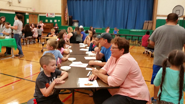 Families at the ice cream social 3