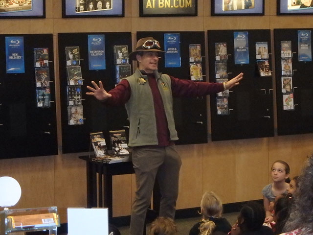 Story teller performs at the event