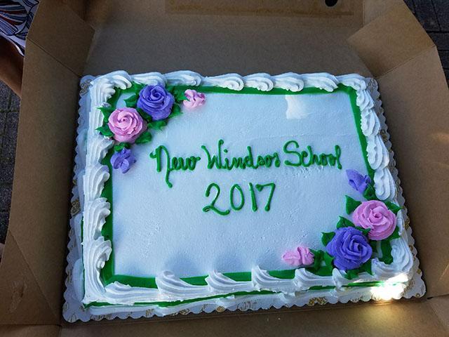 The celebration cake.