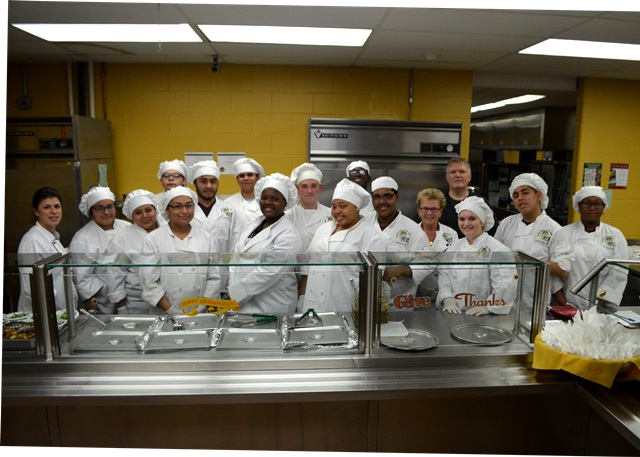 CTE Students cooked for the college reps.