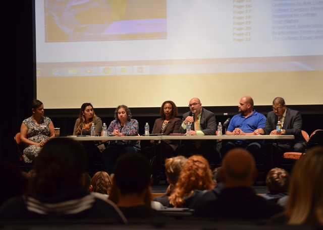 Panel discussion at the College Fair