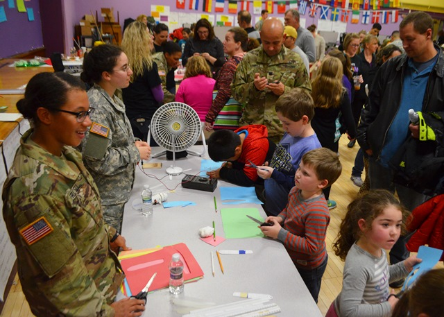 Students meet with cadets