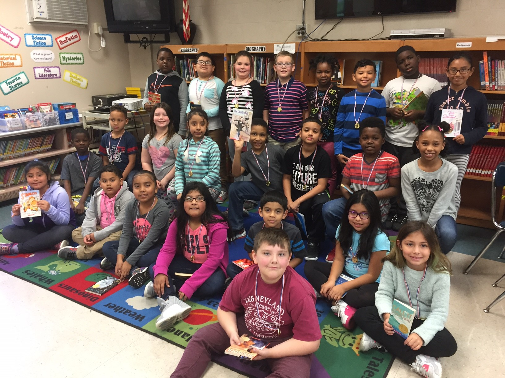 Mrs. Alma's 3rd grade class, 2nd place